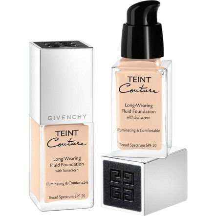 OH I'm in love with this foundation. Givenchy Beauty Teint Couture Long-Wearing Fluid Foundation   WHAT IT DOES/WHAT IT IS FORMULATED TO DO: Up to 15 hours hold. Non-oily evanescent formula. Soft & melting comfortable texture. SPF 20 – PA ++. Undetectable lightweight texture. Hydro-magnetic polymers to lock in moisture leaving the skin's complexion luminous. Zinc derivative & sun filters to protect skin from UVA and UVB rays.