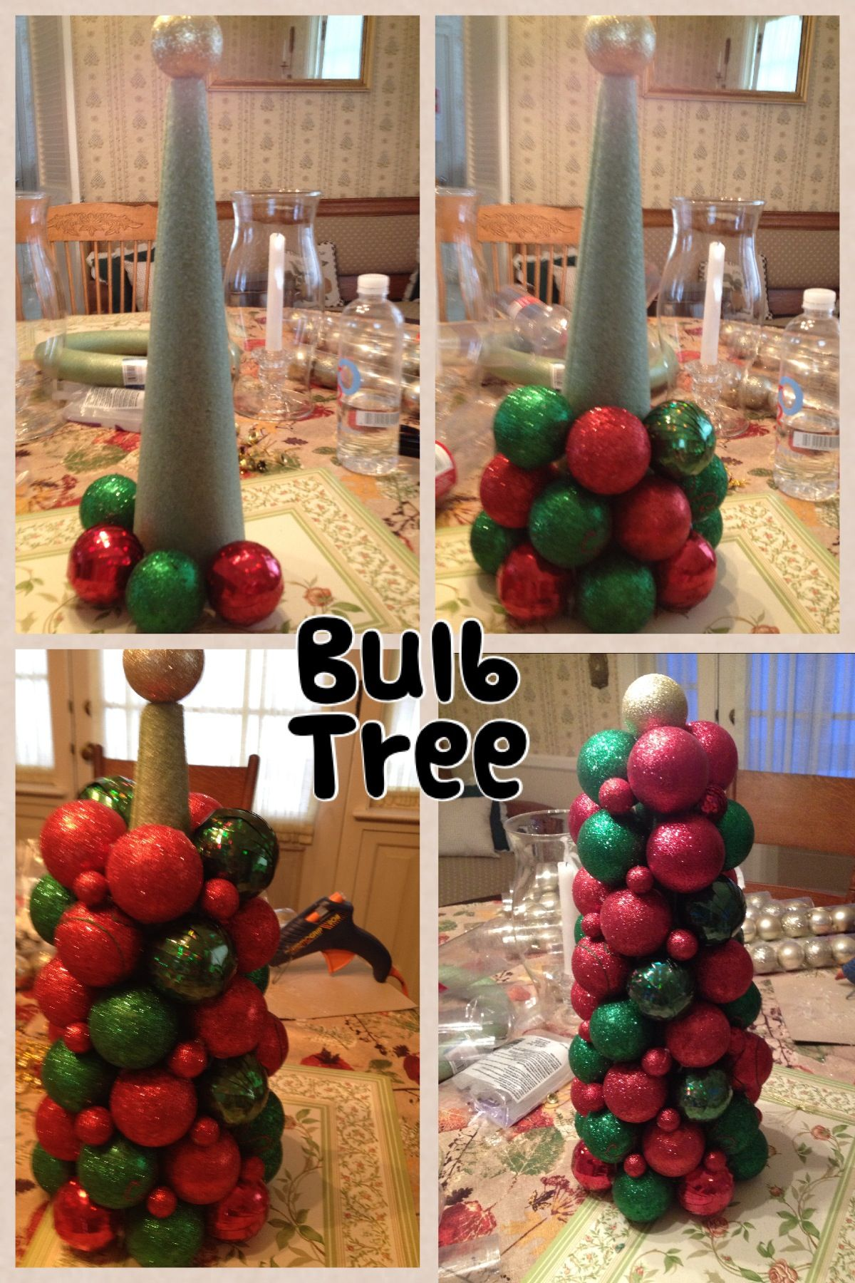 Christmas Bulb Tree Only Took About An Hour Used 45