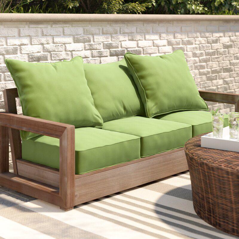 Brayden Studio Indoor Outdoor Sofa Cushion Reviews Wayfair In 2020 Cushions On Sofa Outdoor Sofa Cushions Outdoor Couch Cushions
