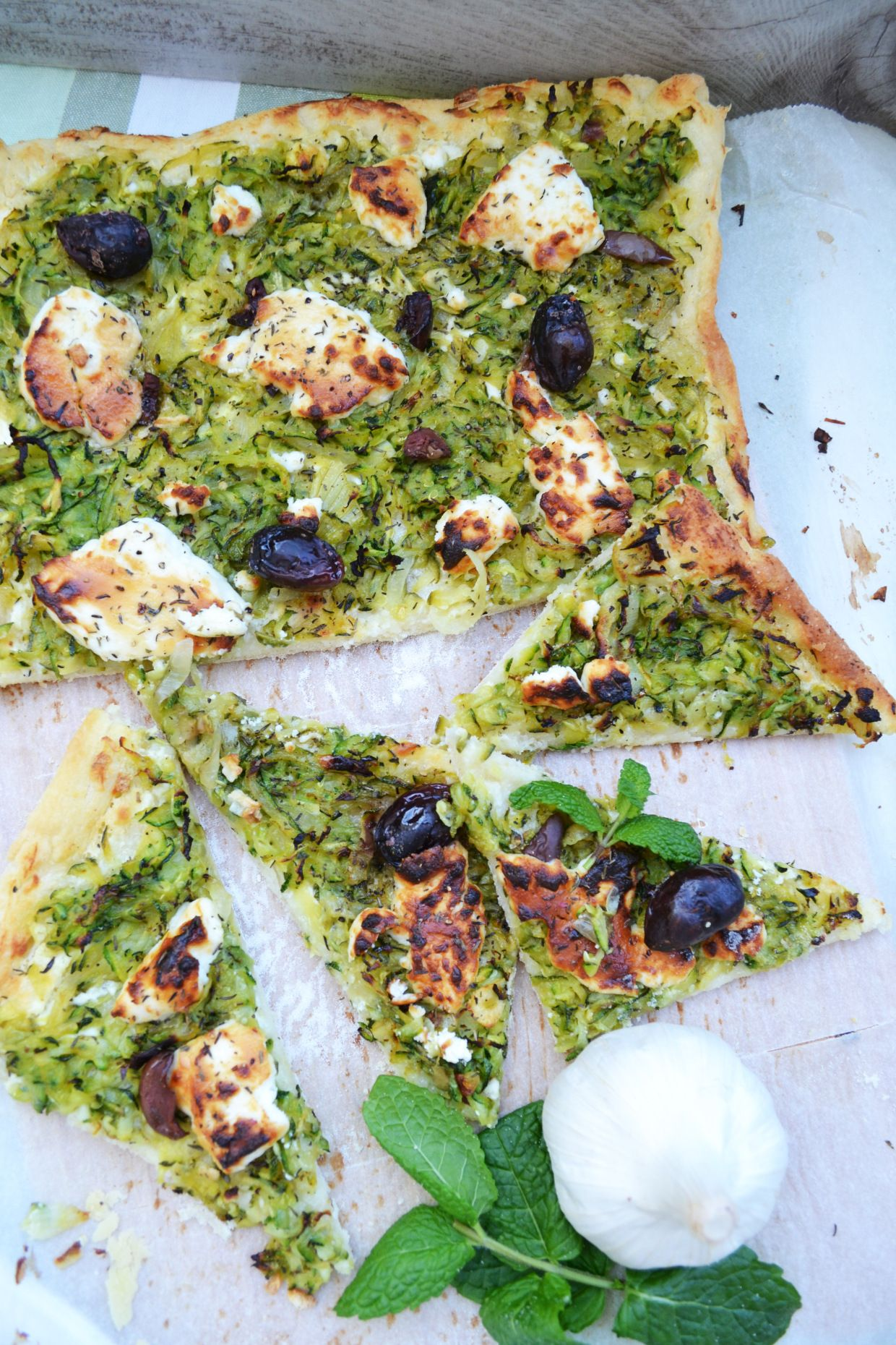 Photo of My southern French dream! Zucchini pissaladière with goat cheese