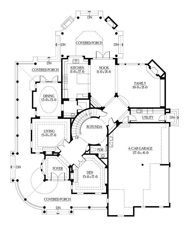 Main Floor 5 Victorian House Plans House Floor Plans House Plans