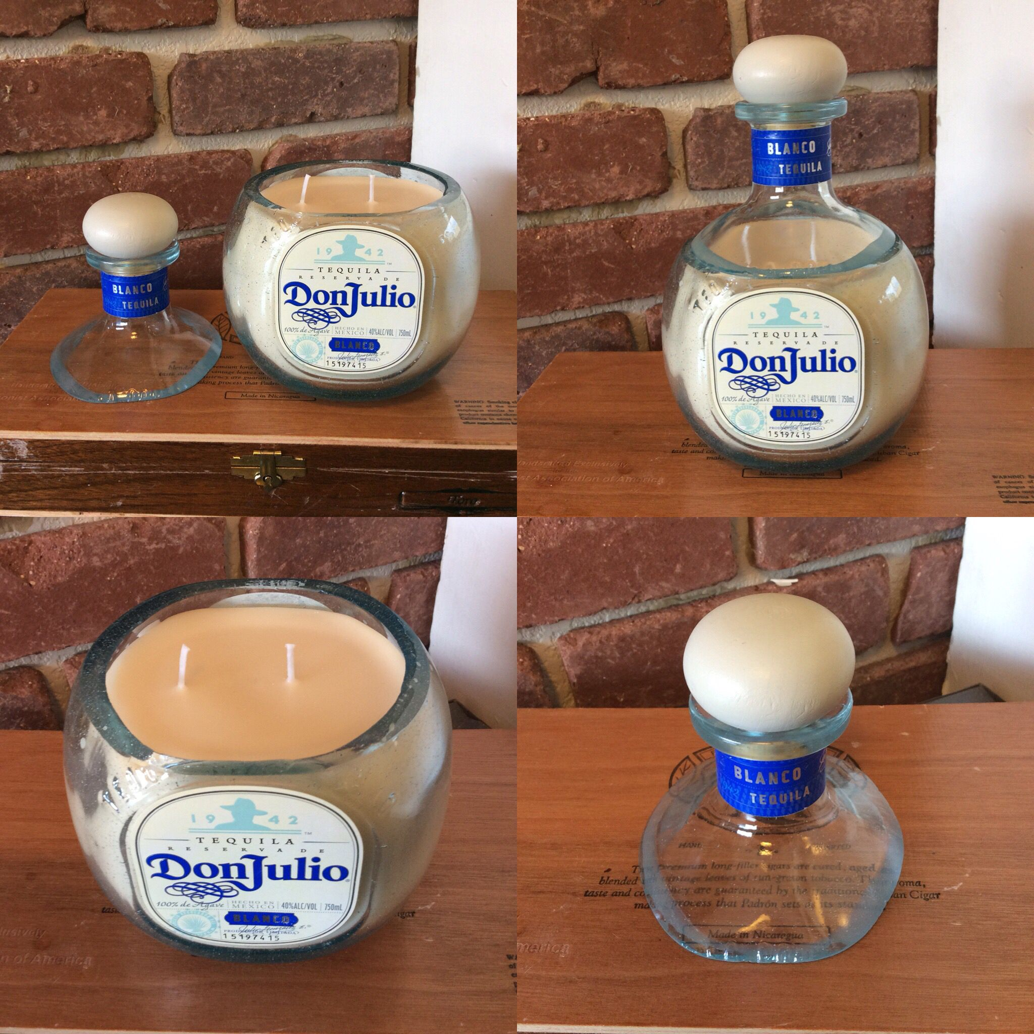 Don Julio Blanco Candle, Soy Wax, Natural Masculine Scent ...