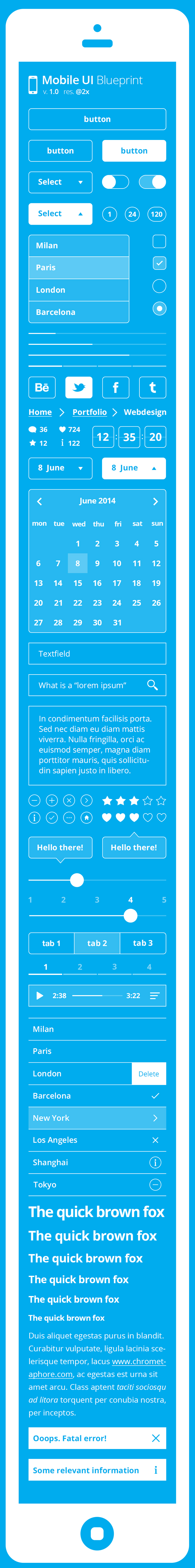 Mobile ui blueprint kit inspiration pinterest mobile ui ui mobile ui blueprint kit malvernweather