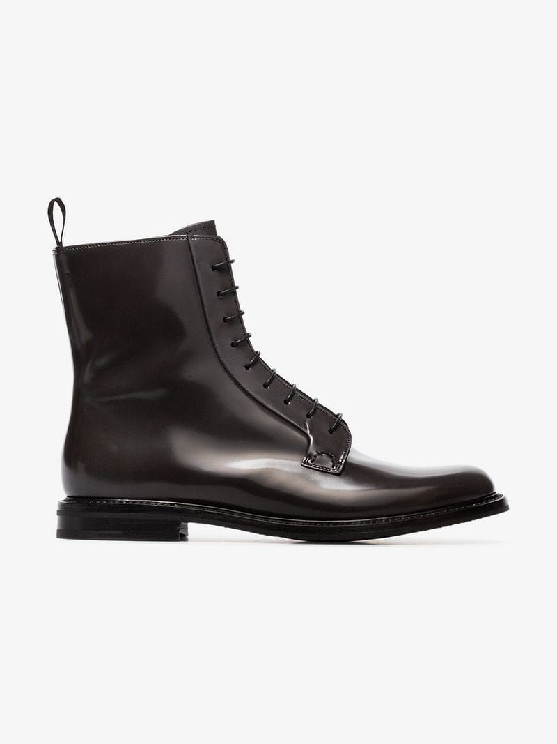 bb53918d9cca4 CHURCH'S | Alexandra Lace-Up Ankle Boots | $966.92 | These asphalt Church's  Alexandra Lace