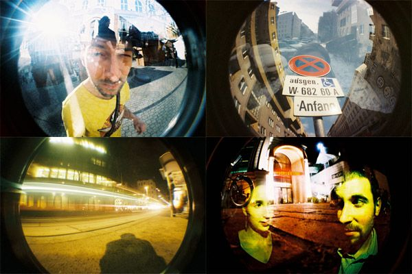 Lomo Fisheye Camera Fish Eye Lens Camera Night Photos