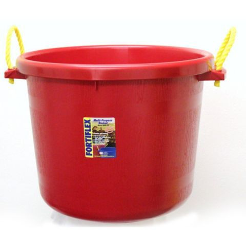 Fortiflex Large Capacity Plastic Bucket 17 5 Gal Capacity Red Tractor Supply Co Plastic Buckets Tractor Supplies Bucket
