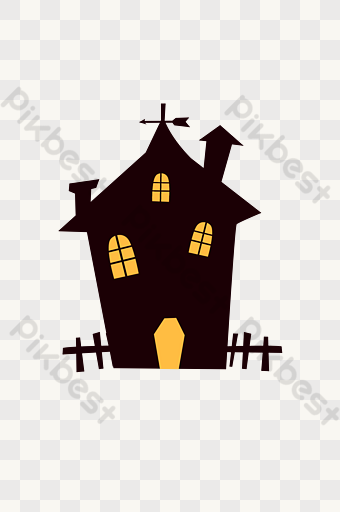 Halloween Haunted House Fence Png Images Psd Free Download Pikbest Halloween Haunted Houses Halloween Party Poster Halloween Haunt
