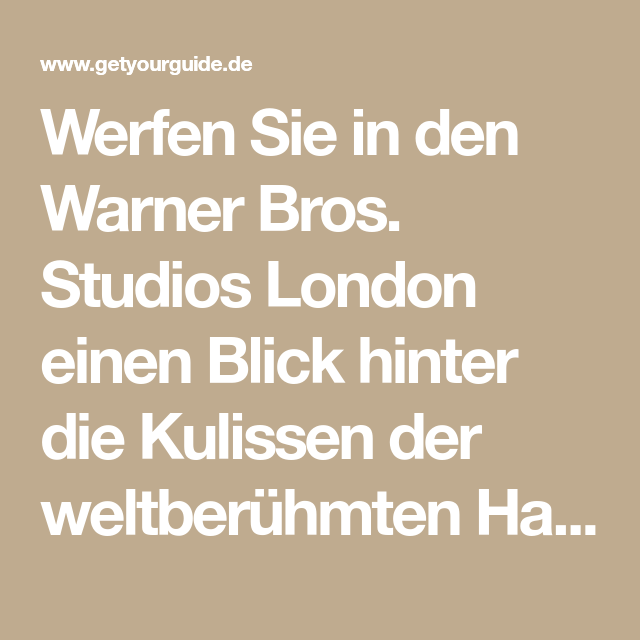 London: Warner Bros. Studio-Tour mit Bustransfers