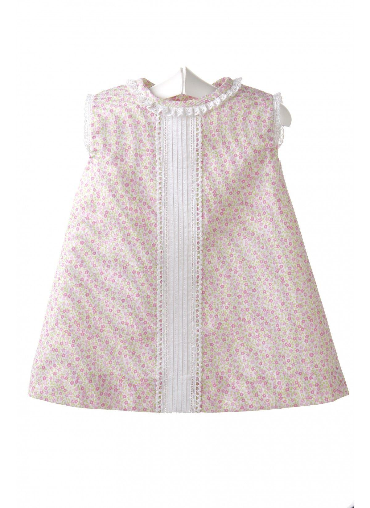 ab13979a0 Vestido para bebé de piqué estampado | TINY & ADORABLE | Ropa bebe ...