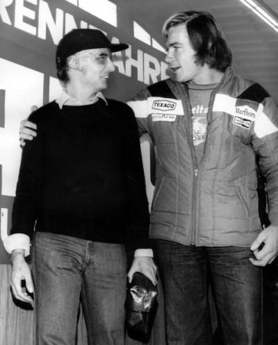 Niki Lauda And James Hunt Fotografia Sportiva Pilot Sport