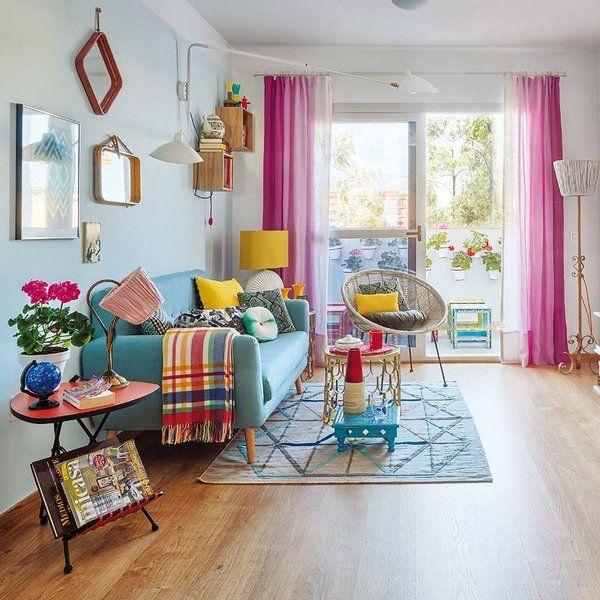 Un alegre y colorido piso de 65 m estilo retro el for Decoracion piso 45m2