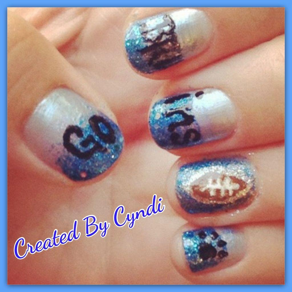 nailart #DIY #manicure #gobruins #ucla #football #gradient #ombre ...