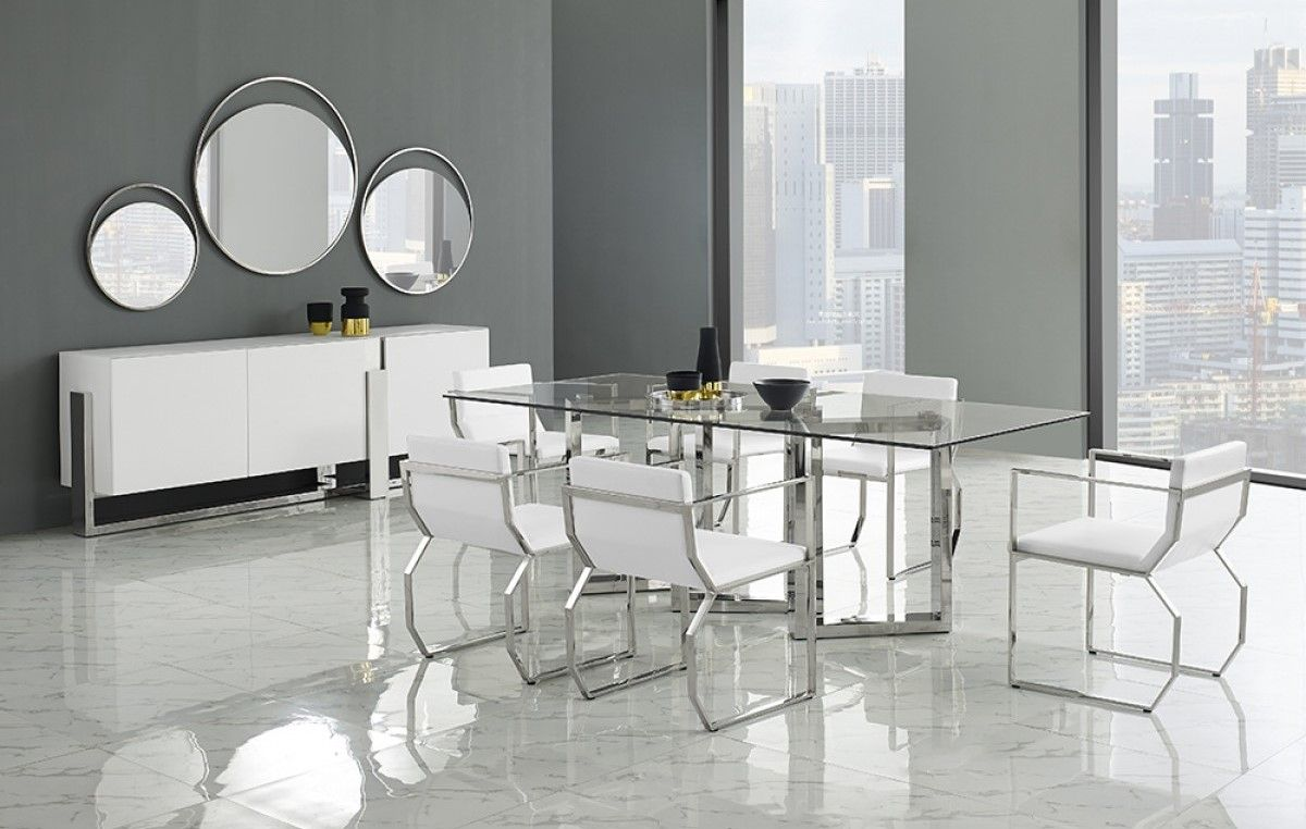 Modern Contemporary Dining Collection Table  Modern Design Dining Magnificent White Contemporary Dining Room Sets Design Decoration