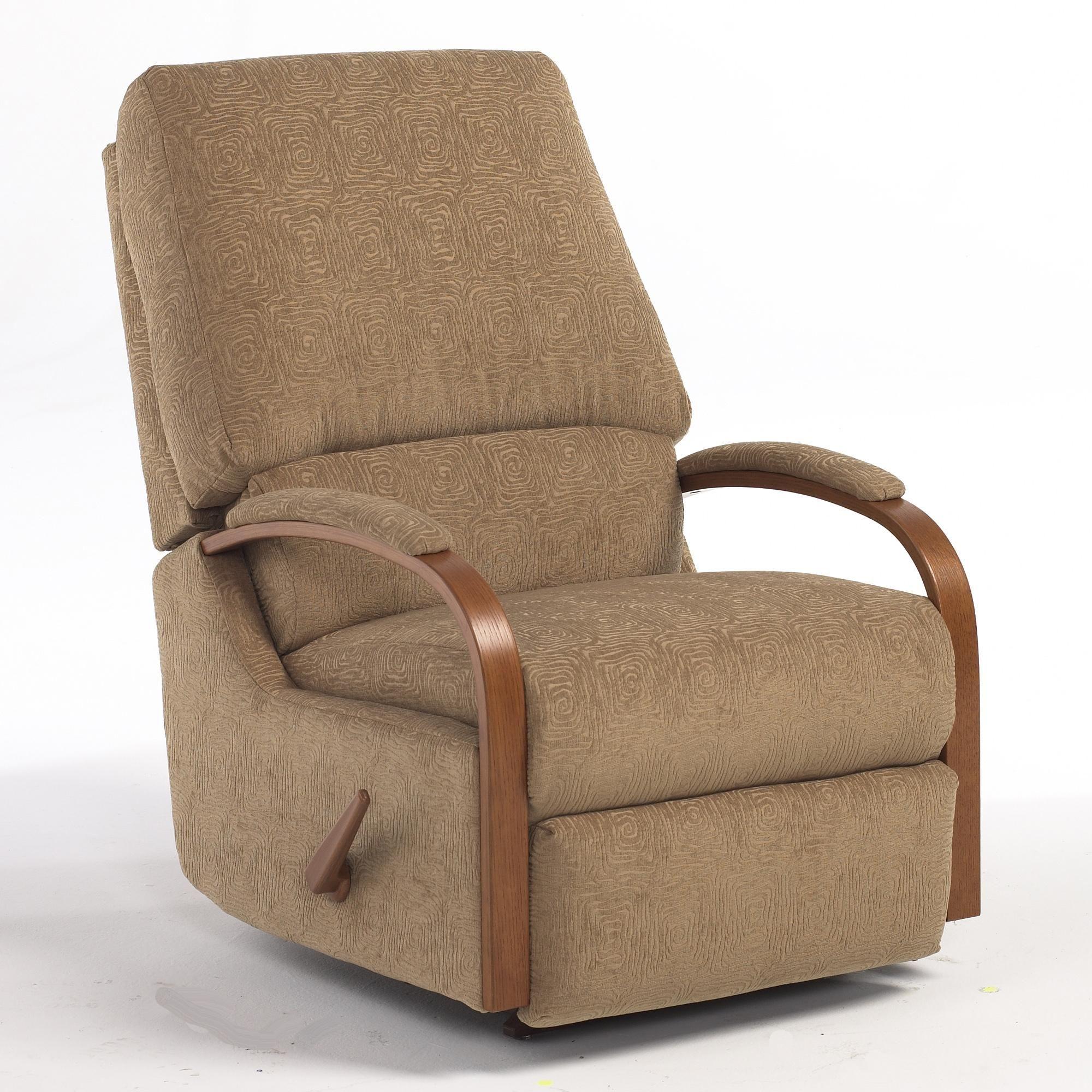 Pike Swivel Rocker Recliner Upholstered chairs, Swivel