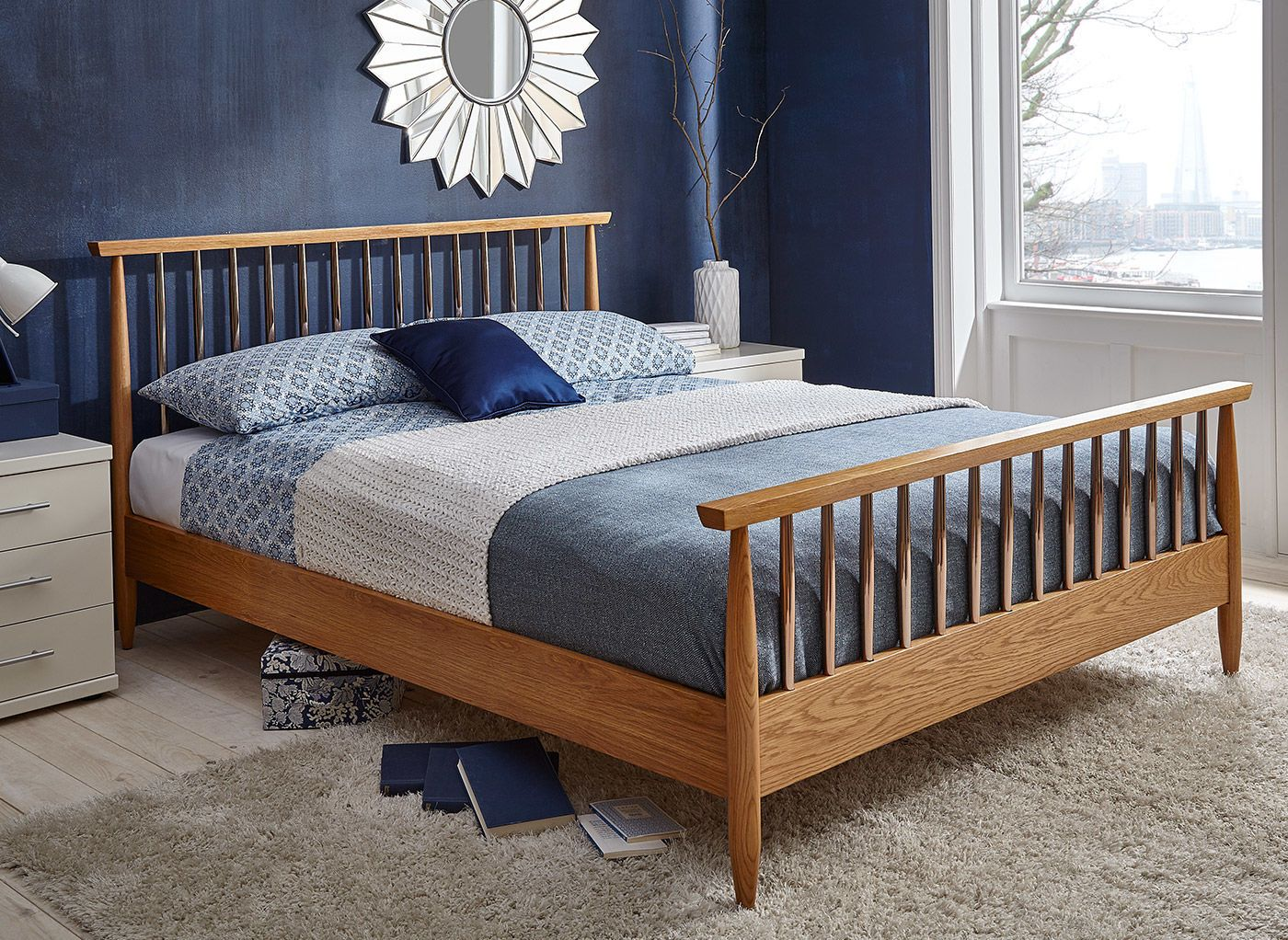 The Dunn bed frame is contemporary and stylish. The oak effect frame ...