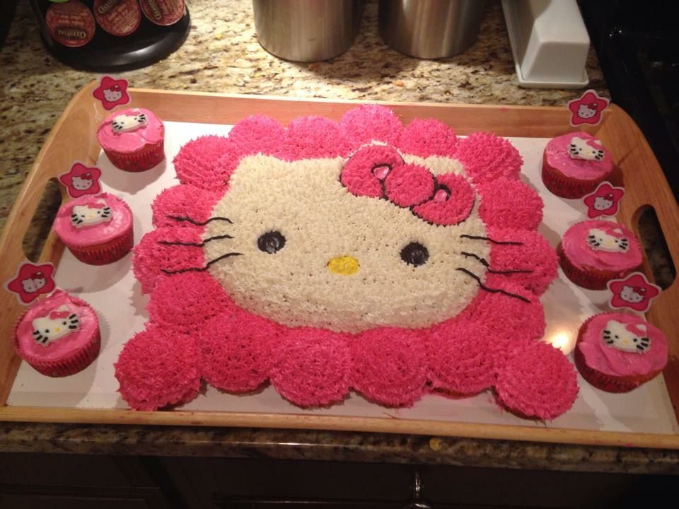 Kasey S 2nd Birthday Cake A Hello Kitty Cake 2 Birthday Cake Cat Cake Hello Kitty Cake
