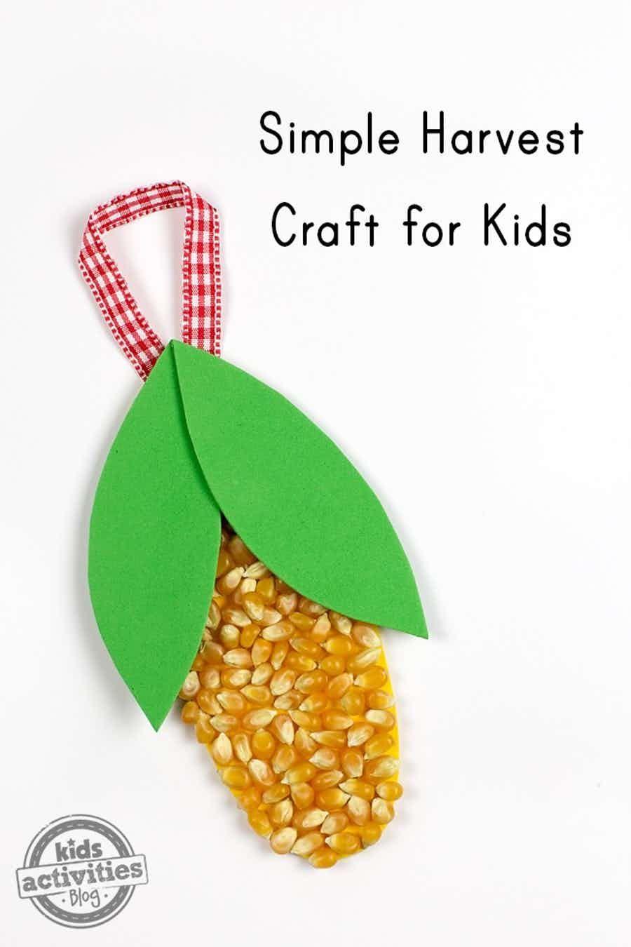 Easy Harvest Craft Kids Activities School Pinterest Crafts