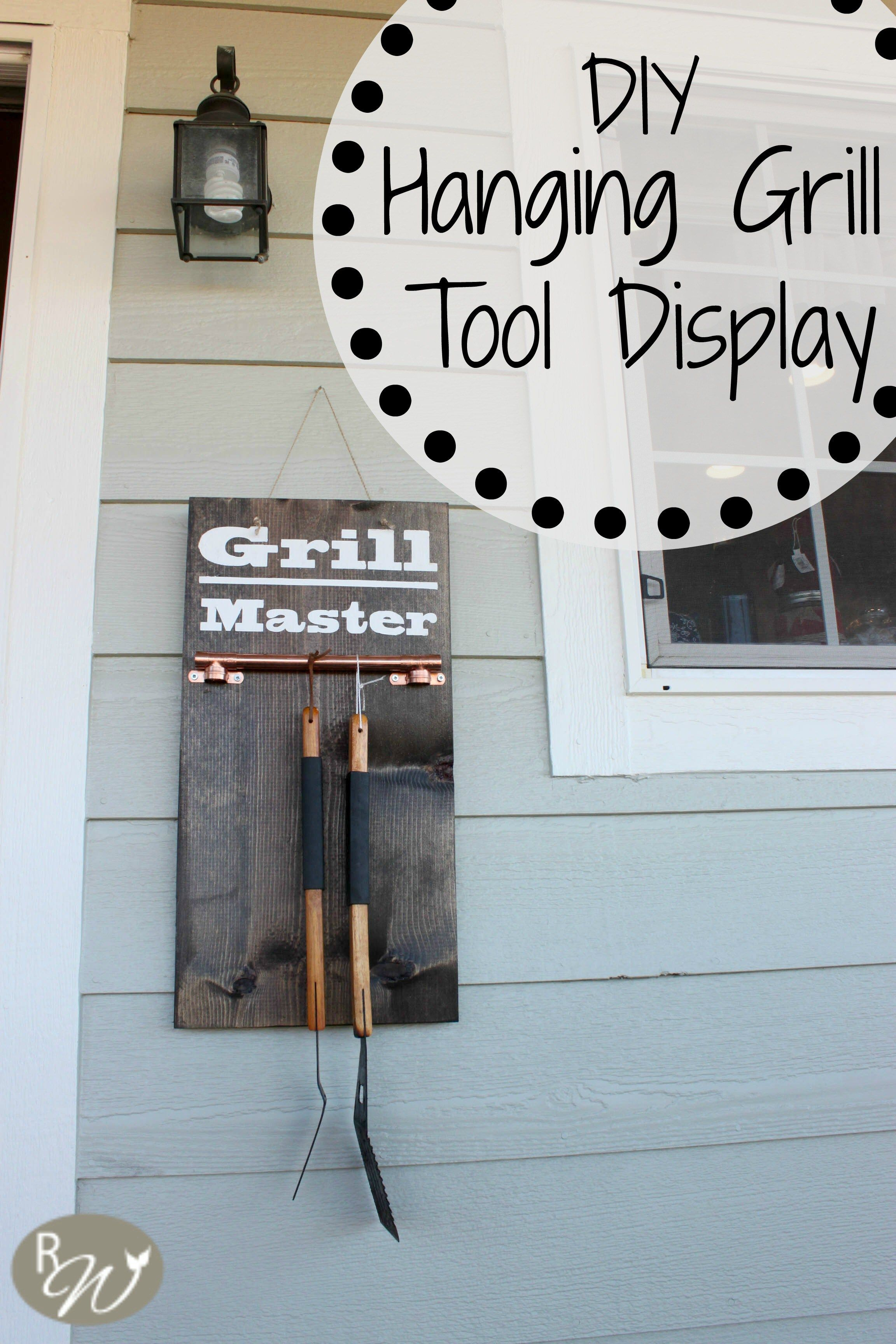 Diy hanging grill tool display sign monthly home depot - Grill utensil storage ideas ...