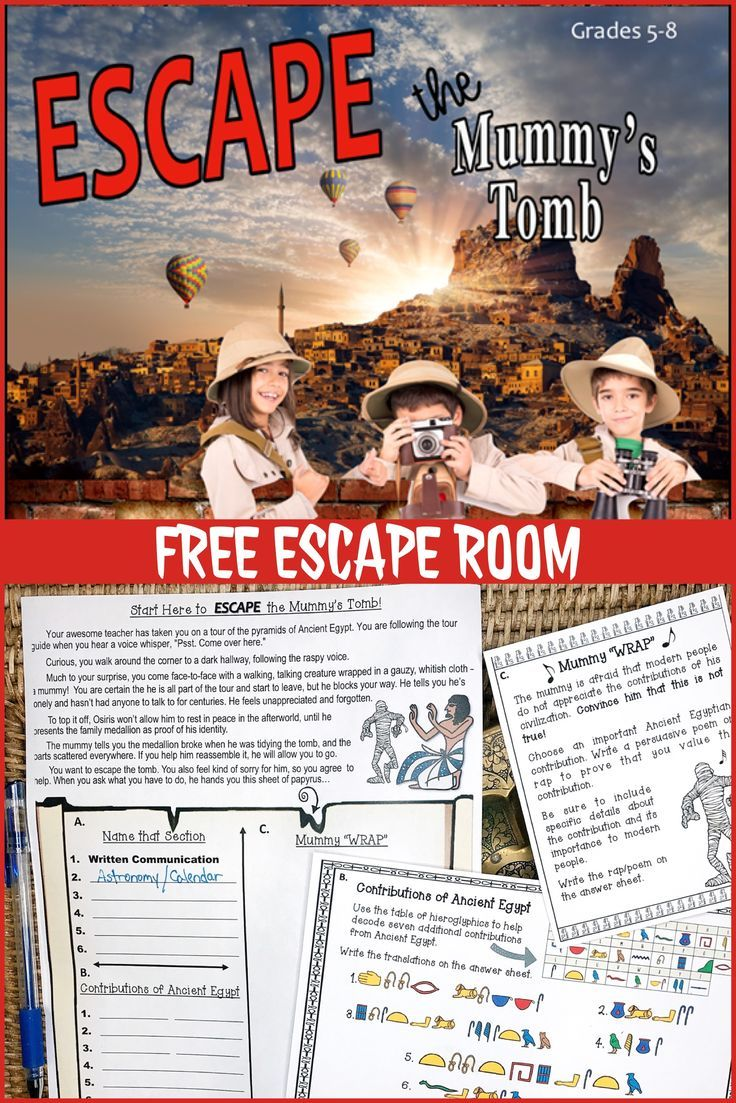 Escape the mummy's tomb! mini escape room activity #historyoftheworld