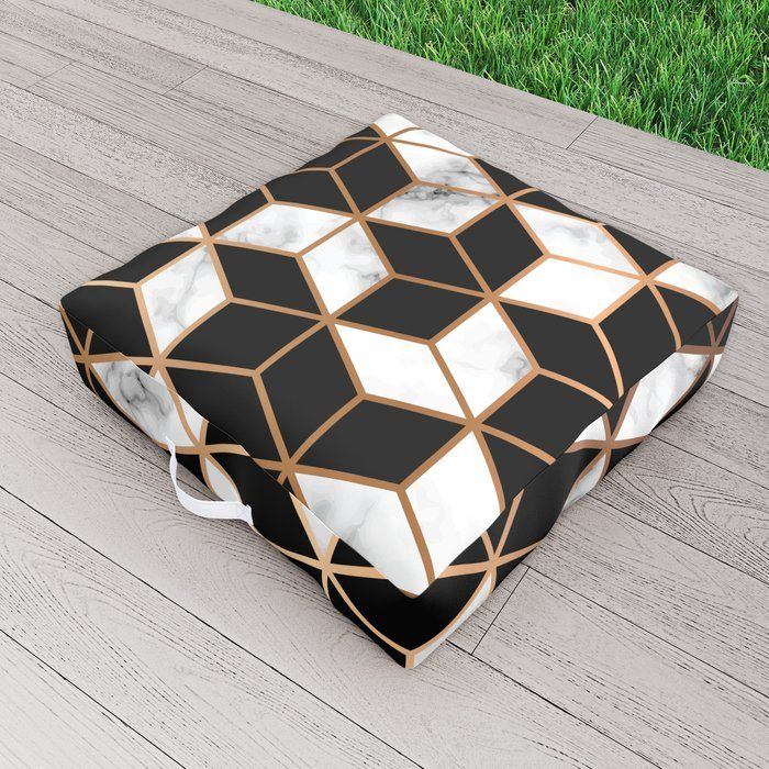Marble & Geometry 005 Outdoor Floor Cushion