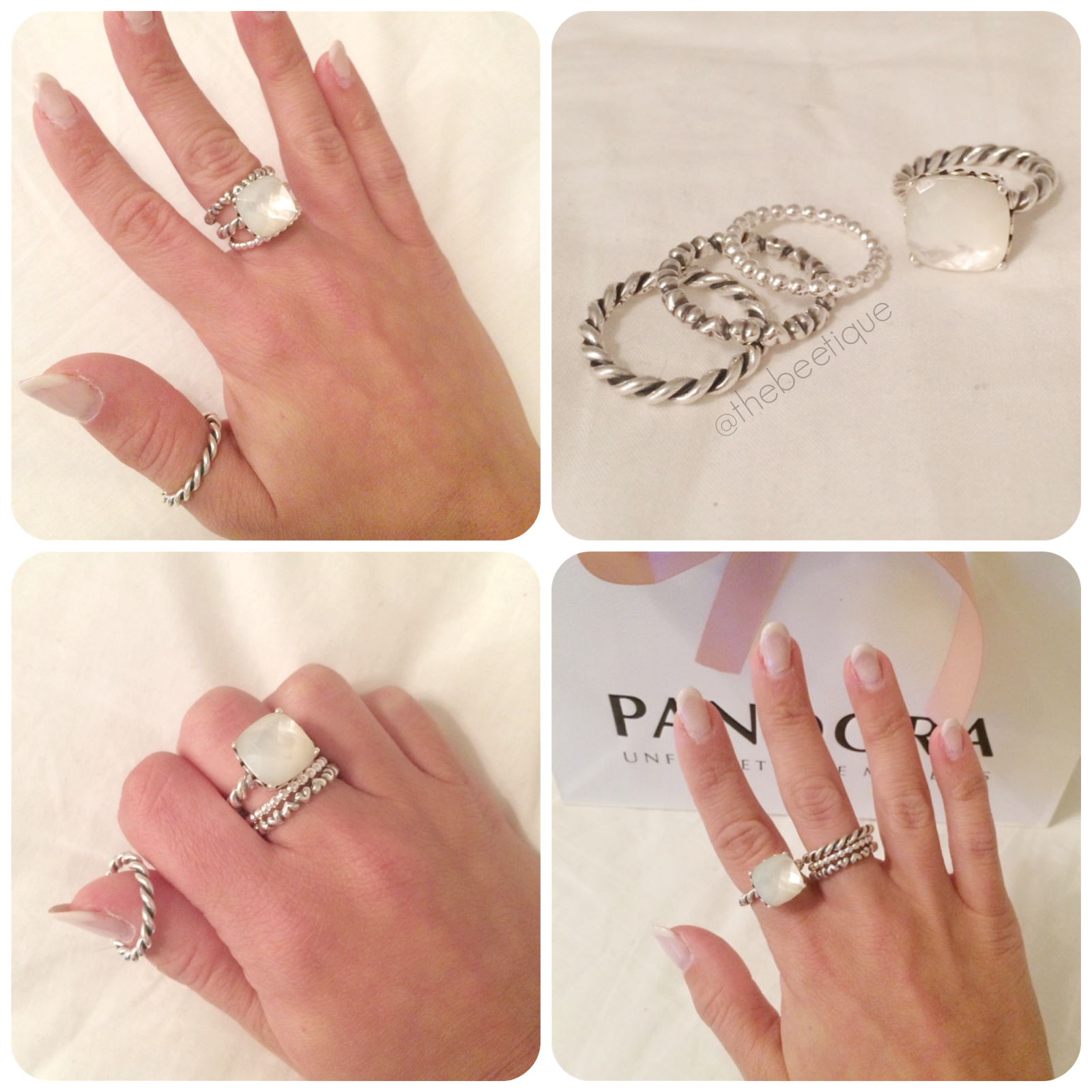 fe35c1f13 Pandora stackable rings, LOVE. Dainty & affordable! pandora mother of pearl  sincerity ring, eternal clouds, intertwined, forever love ring.
