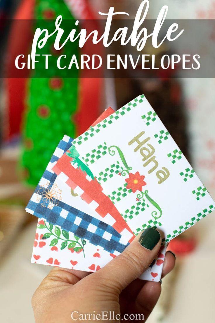 Printable Gift Card Envelopes HolidayswithHappyCards