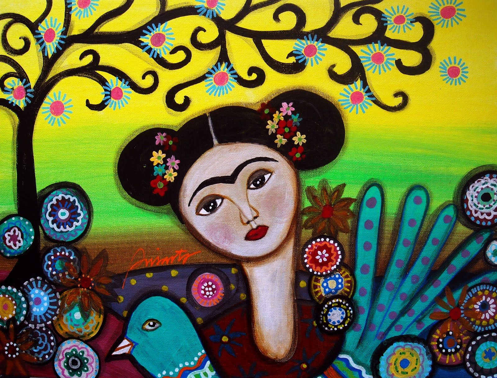 Frida And Bird | Print..., Mexican artists and Artworks