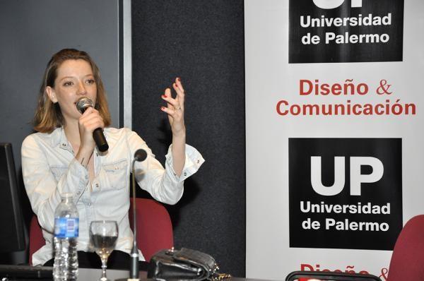 Conferencia en la Universidad de Palermo, Buenos Aires, Argentina.