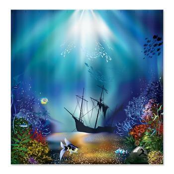 Underwater Scene Shipwreck Shower Curtain Cafepress