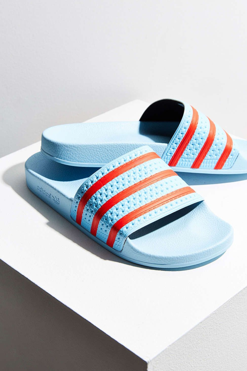 acb4e083943c0d adidas Blush Blue Adilette Pool Slide