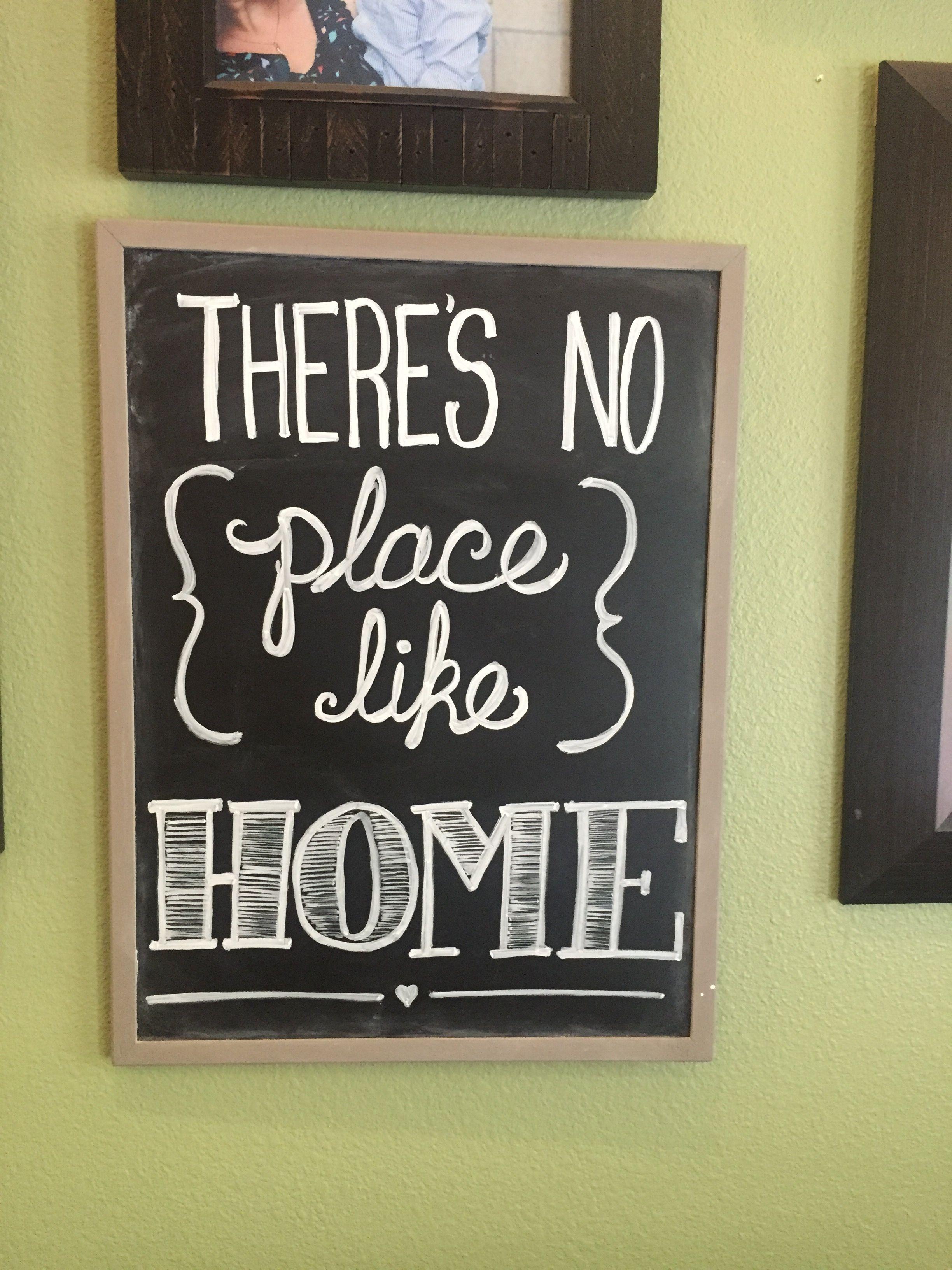 No Place Like Home Chalkboard Decor Ideas | Chalk it up | Pinterest ...