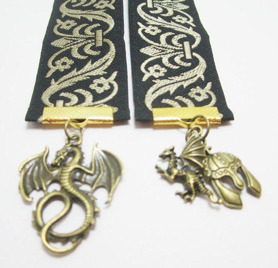 Bronze Scrolled Black Fantasy Aeonith Ribbon by WhispySnowAngel, $12.00