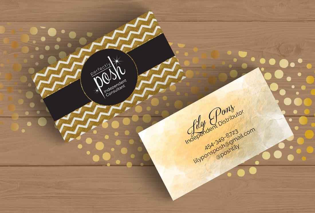 Perfectly Posh Business Card Template Layered PSD No.12 Black and ...