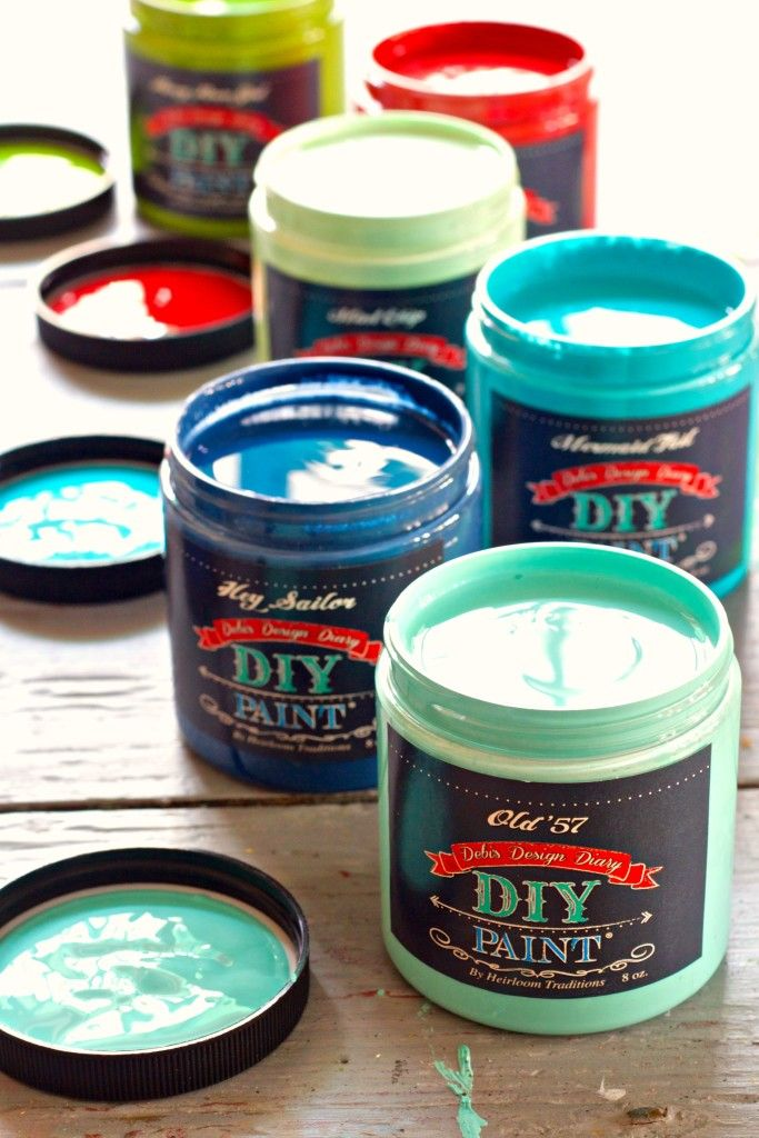 DIY Brand Chalk Type Paint Colors Of DIY Paint Plus Waxes - Paint plus
