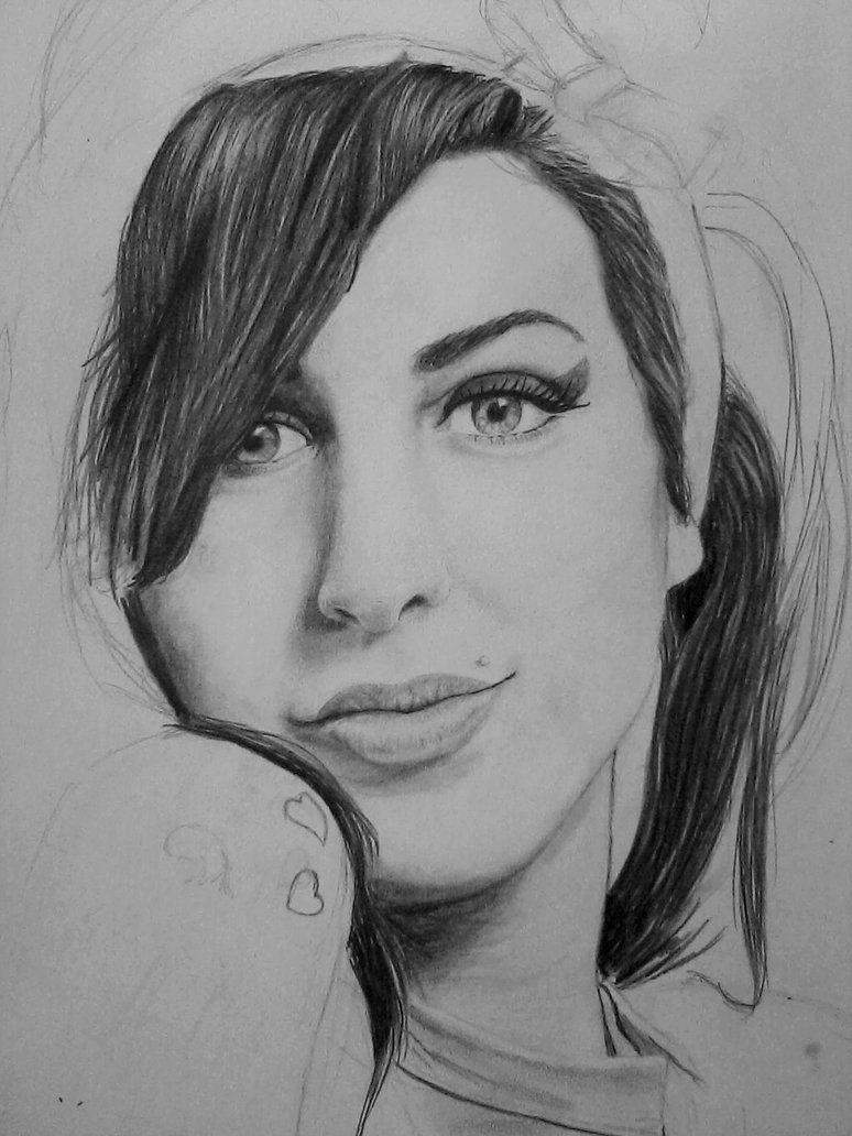 Black And White Amy Winehouse Drawing Google Search Amyyyy In