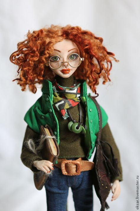 Art doll Ellie – заказать на Ярмарке Мастеров – 5UKK9COM   Куклы, Stary Oskol #dolls