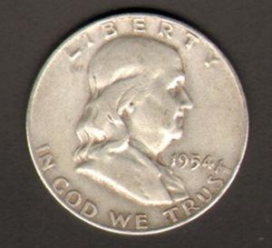 90/% Silver Brilliant Uncirculated Franklin Half Dollar with Capsule