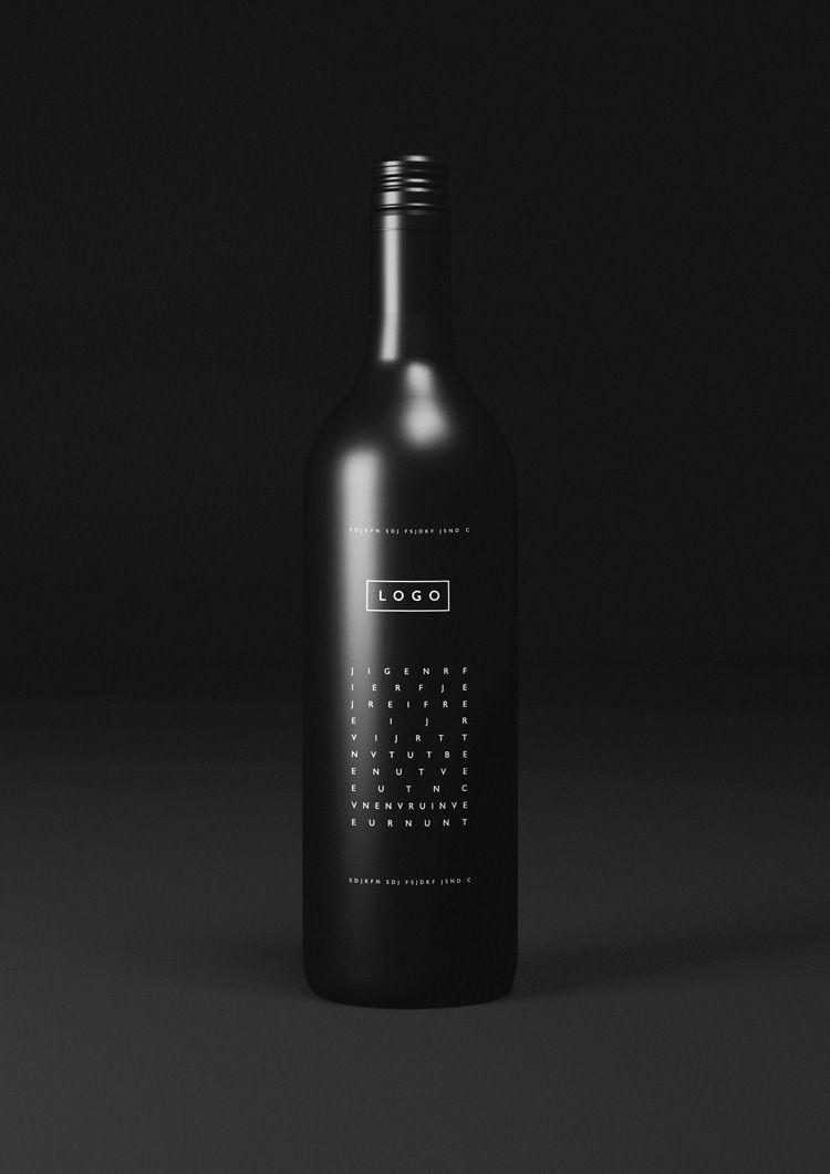 Download Free Black Wine Bottle Logo Mockup Download Wine Bottle Logo Elegant Wine Bottle Wine Bottle