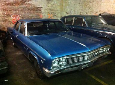 1966 Chevy Impala 4 Door Sedan All Original Blue For Sale In