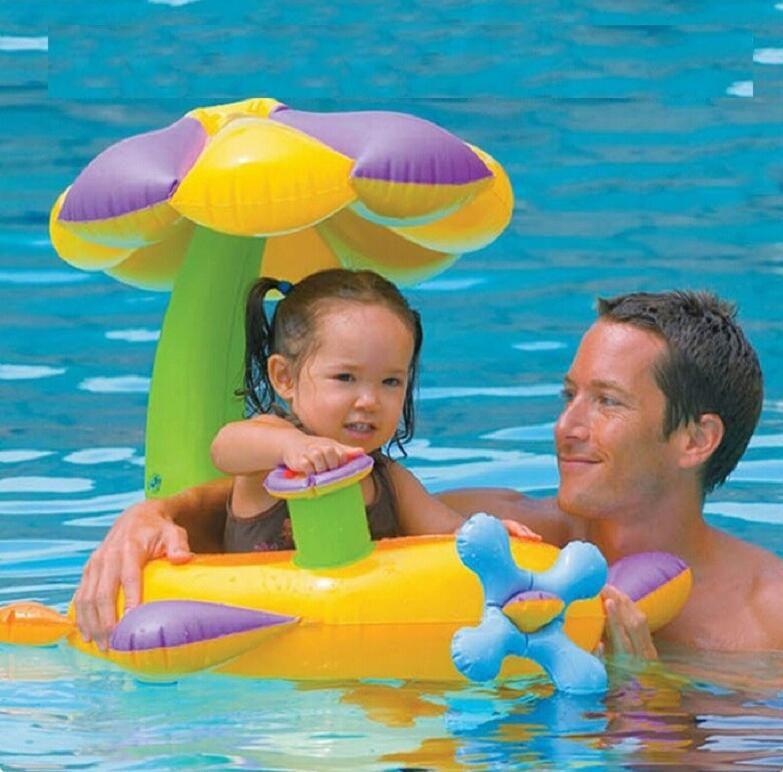 Flower Mushroon Pvc Fashion Kids Baby Inflatable Swimming Pool Swim Ring Seat Float Boat Water Accessory S1031 Inflatable Swimming Pool Pool Pool Supplies
