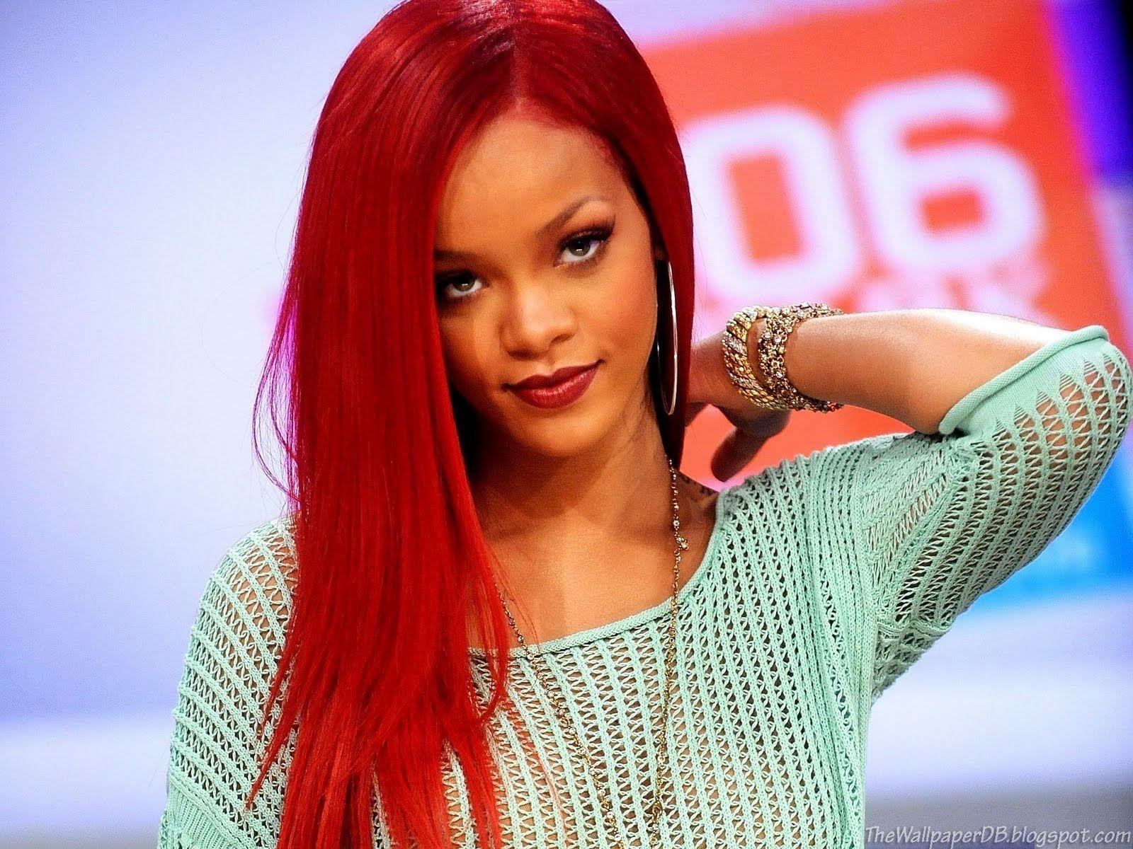 Rihanna Hair Colors Over The Years Rihanna Hairstyles Rihanna Red Hair Rihanna Long Red Hair