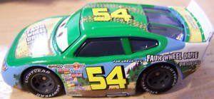 Pixar CARS Movie 1:55 Die Cast Car Motor Speedway of the South #54 Faux Wheel Drive Disney