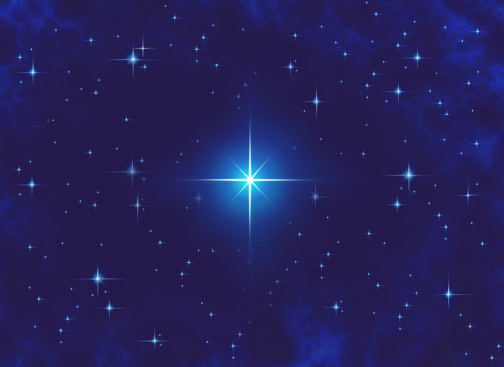 Анимация звезда на небе, волков крутые
