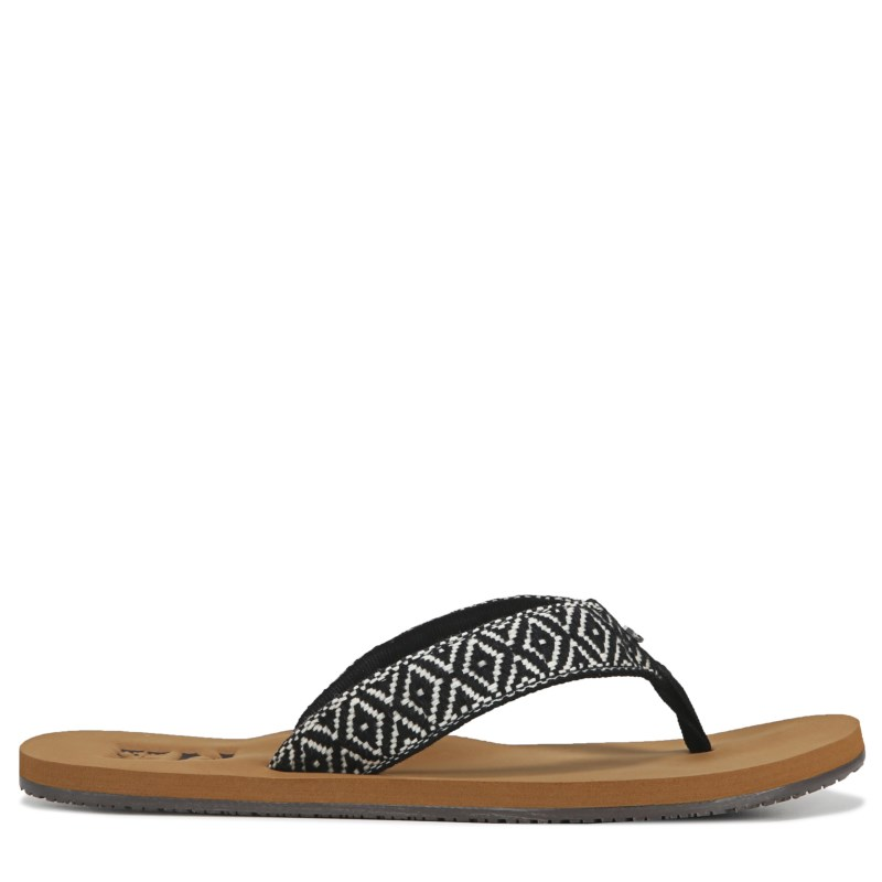 ab4bf2f20e02 Billabong Women s Baja Flip Flop Sandals (Black Cream) in 2019 ...