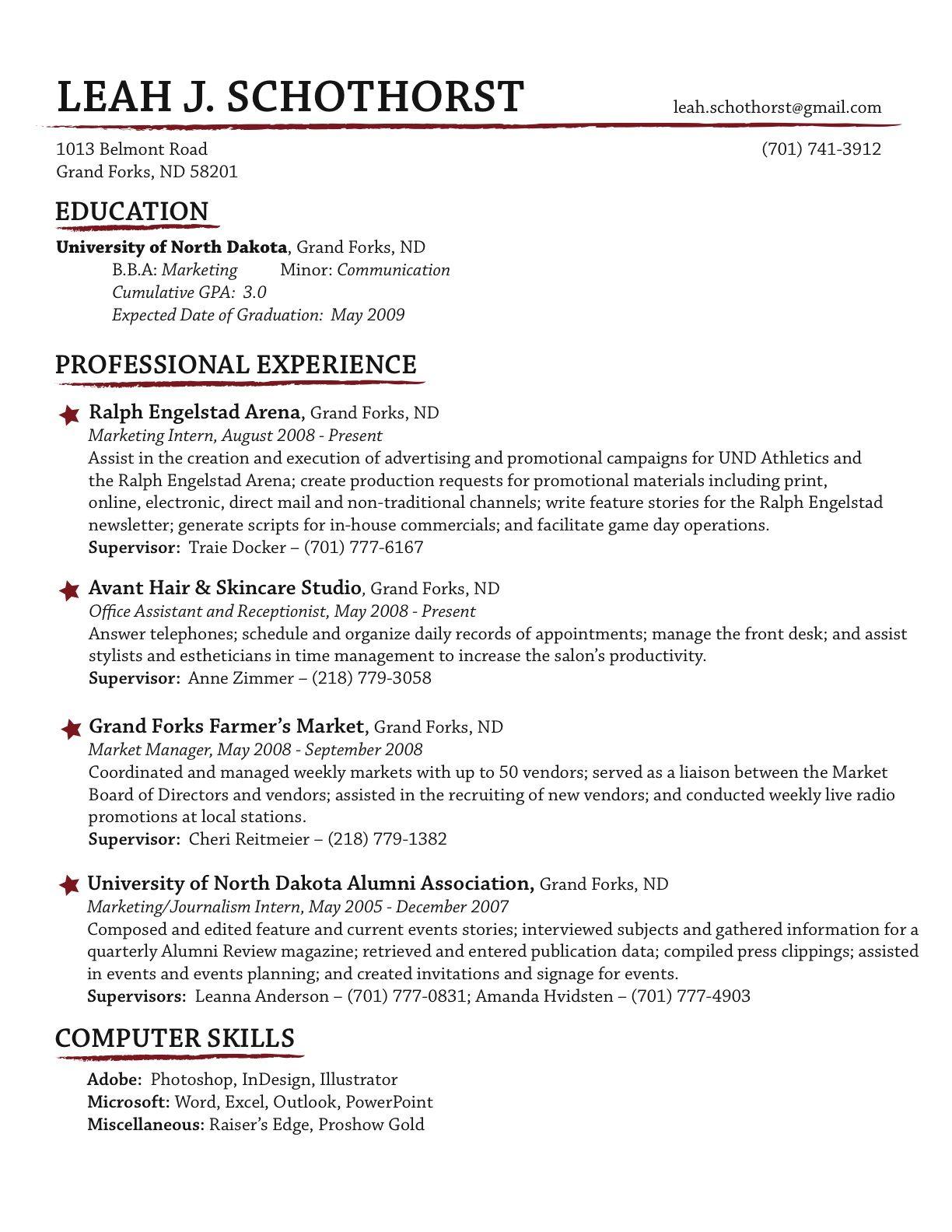 mac computer skills on resume