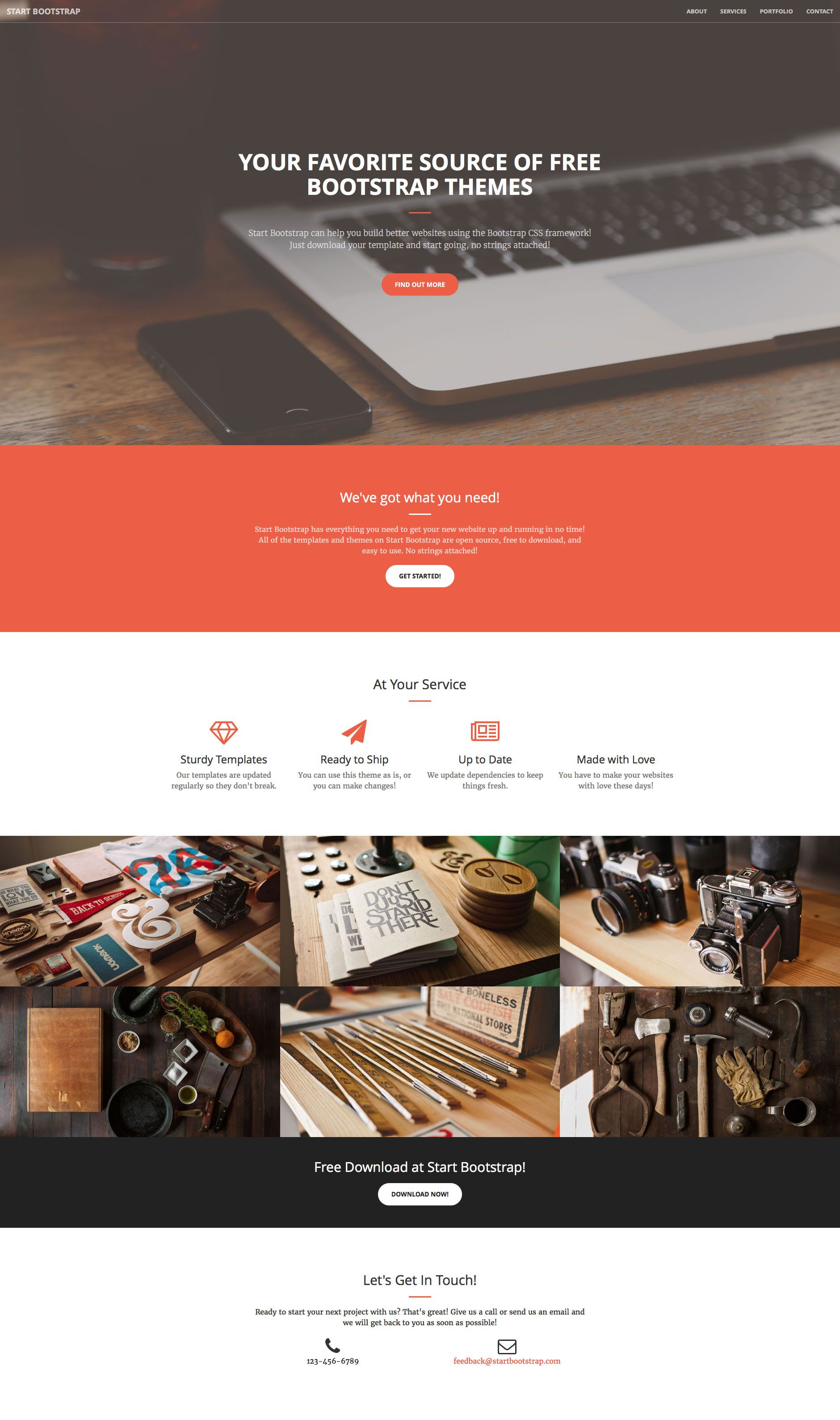 Creative Is A Free Responsive Html5 Website Template Using Bootstrap 3 Perfect For Any Kind Of Busin Bootstrap Template Html5 Templates Free Website Templates