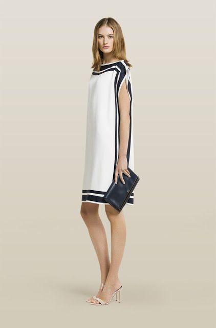 Vestidos de fiesta combinados blanco y negro