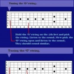 How To Tune Your Guitar By Ear Visual Ly Learn Guitar Music Lessons Infographic Tutorial