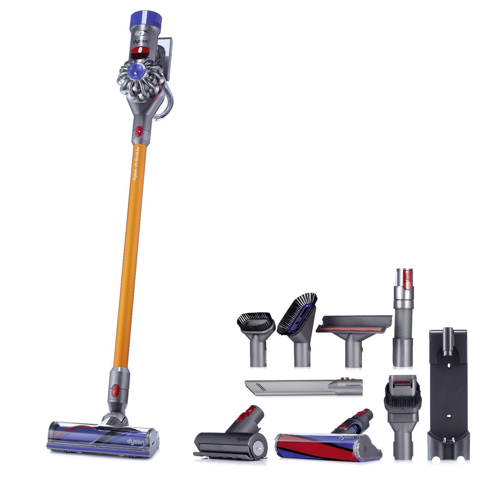 805320 dyson v8 absolute quiet cordless vacuum with 4pc accessory kit qvc price. Black Bedroom Furniture Sets. Home Design Ideas