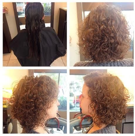 Izzy loves her curly clients! Before and after curly cut transformation #curlyhair